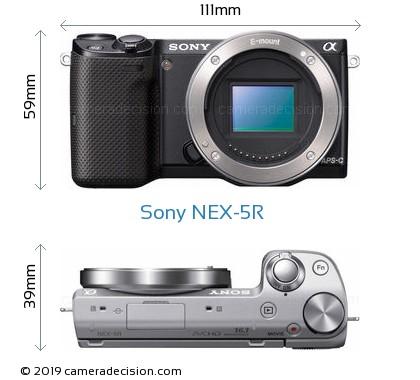 Sony NEX-5R Body Size Dimensions