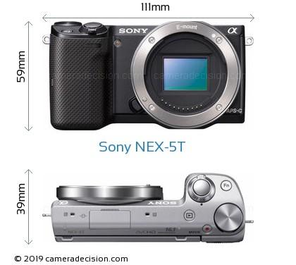 Sony NEX-5T Body Size Dimensions
