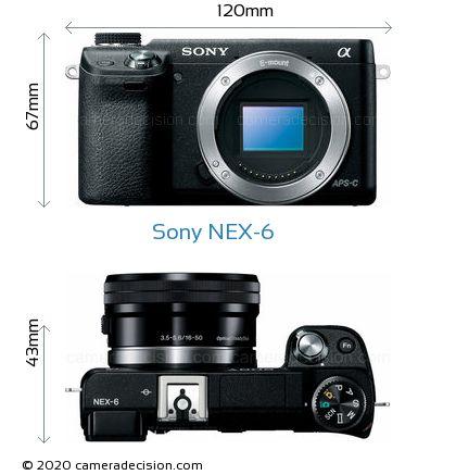 Sony NEX-6 Body Size Dimensions