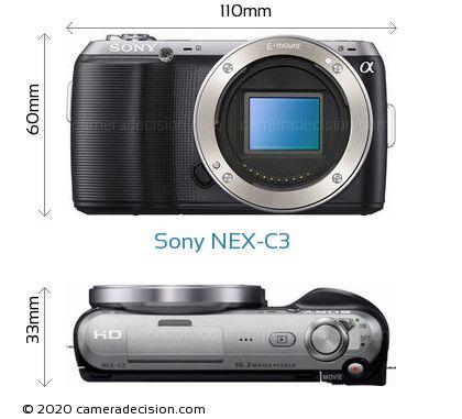 Sony NEX-C3 Body Size Dimensions