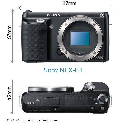 Sony NEX-F3 Body Size Dimensions