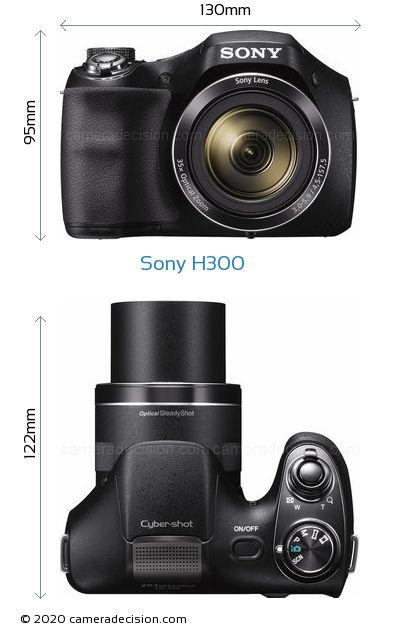 Sony H300 Body Size Dimensions