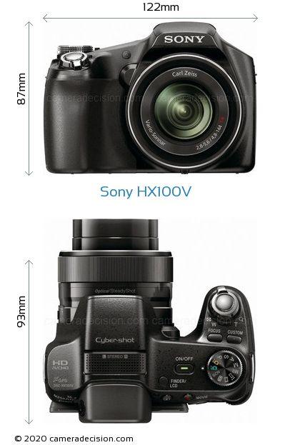 Sony HX100V Body Size Dimensions
