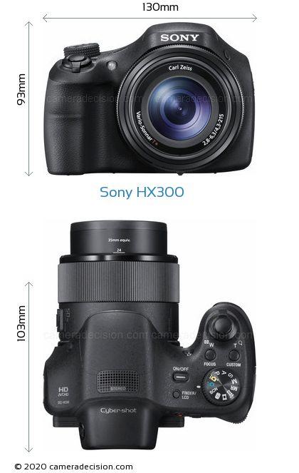 Sony HX300 Body Size Dimensions