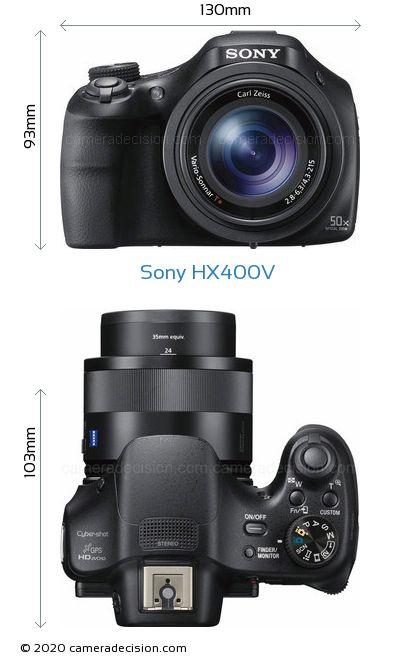 Sony HX400V Body Size Dimensions