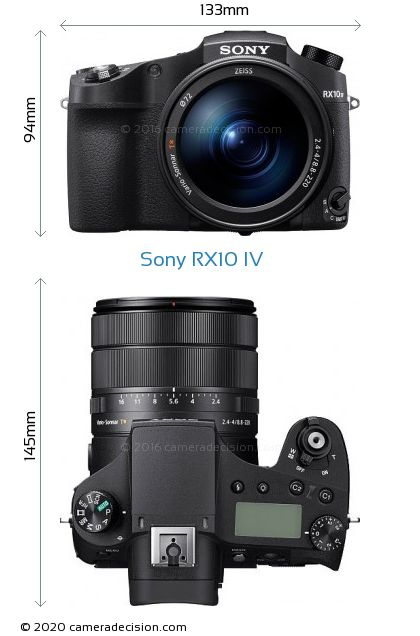 Sony RX10 IV Body Size Dimensions