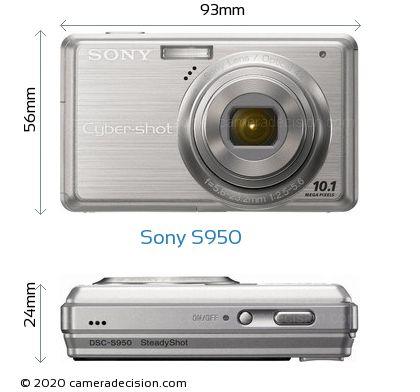 Sony S950 Body Size Dimensions
