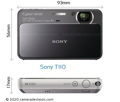 Sony T110 Body Size Dimensions