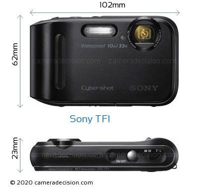 Sony TF1 Body Size Dimensions