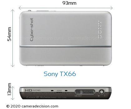 Sony TX66 Body Size Dimensions