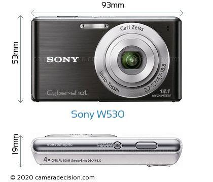 Sony W530 Body Size Dimensions