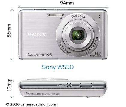 Sony W550 Body Size Dimensions