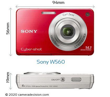 Sony W560 Body Size Dimensions