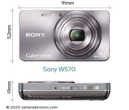 Sony W570 Body Size Dimensions