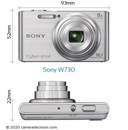 Sony W730 Body Size Dimensions