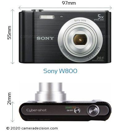 Sony W800 Body Size Dimensions