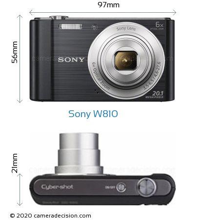 Sony W810 Body Size Dimensions