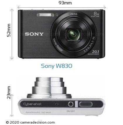 Sony W830 Body Size Dimensions