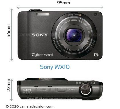 Sony WX10 Body Size Dimensions