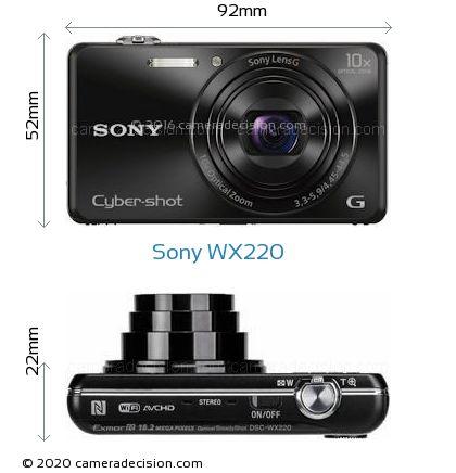 Sony WX220 Body Size Dimensions