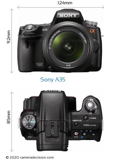 Sony A35 Body Size Dimensions