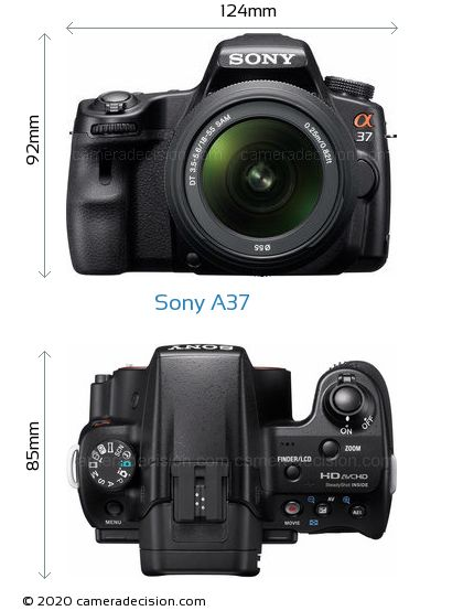 Sony A37 Body Size Dimensions