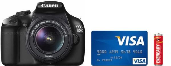 Canon 1100D Real Life Body Size Comparison