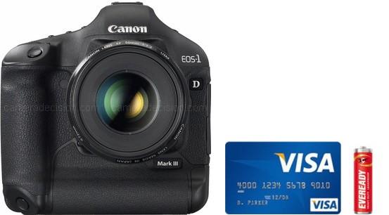 Canon 1D MIII Real Life Body Size Comparison