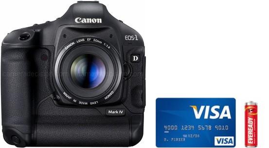 Canon 1D MIV Real Life Body Size Comparison
