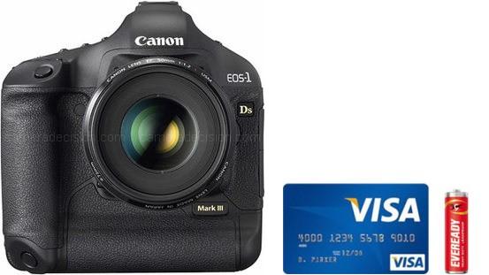 Canon 1Ds MIII Real Life Body Size Comparison