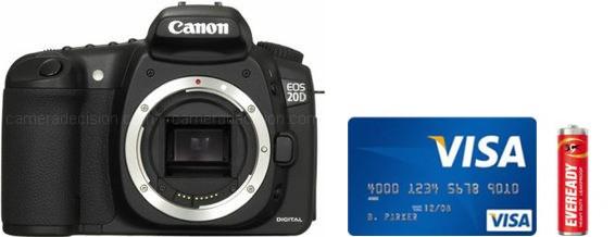 Canon 20D Real Life Body Size Comparison