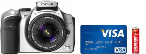 Canon 300D Real Life Body Size Comparison