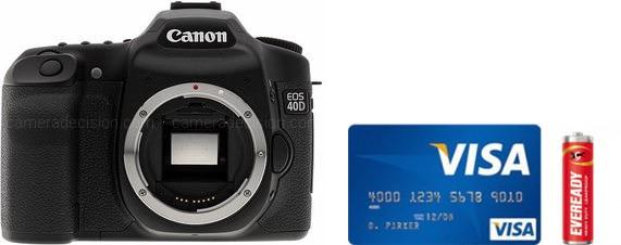 Canon 40D Real Life Body Size Comparison
