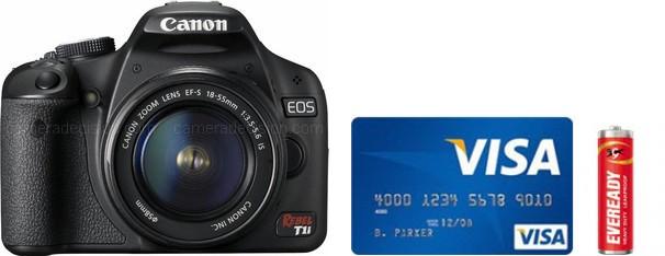 Canon 500D Real Life Body Size Comparison