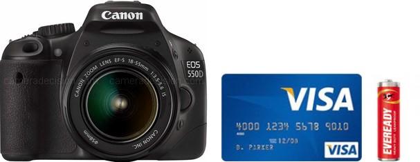 Canon 550D Real Life Body Size Comparison
