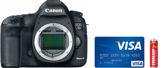 Canon 5D MIII Real Life Body Size Comparison