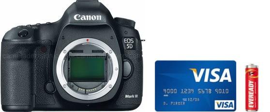 Canon 5D MIII Real Life Body Size Comparison