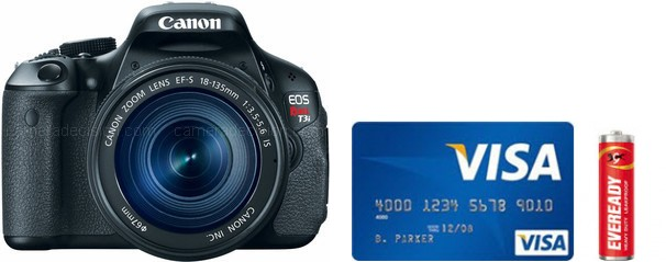 Canon 600D Real Life Body Size Comparison