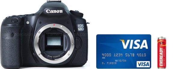 Canon 60D Real Life Body Size Comparison