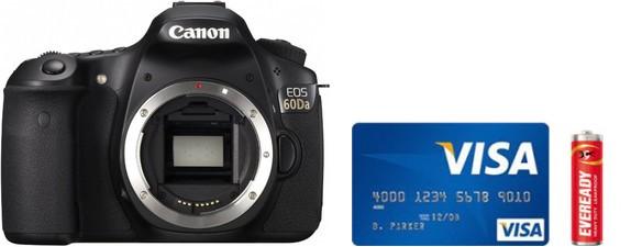 Canon 60Da Real Life Body Size Comparison