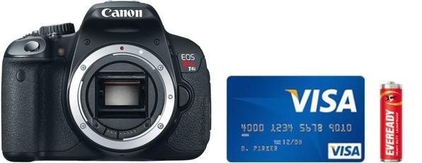 Canon 650D Real Life Body Size Comparison