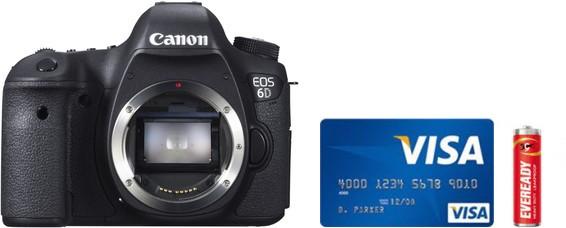 Canon 6D Real Life Body Size Comparison
