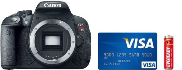 Canon 700D Real Life Body Size Comparison