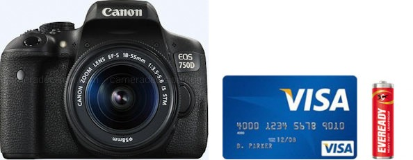 Canon 750D Real Life Body Size Comparison