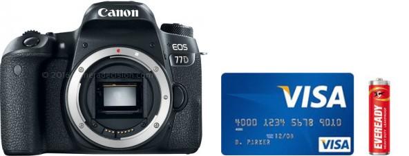Canon 77D Real Life Body Size Comparison
