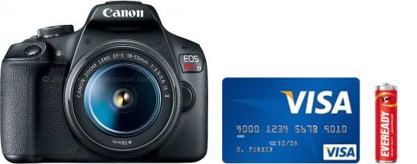 Canon T7 Real Life Body Size Comparison