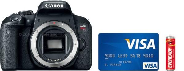 Canon T8i Real Life Body Size Comparison