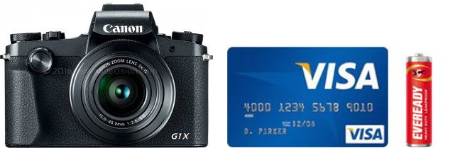 Canon G1 X III Real Life Body Size Comparison
