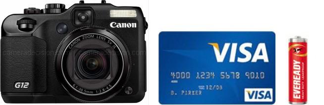 Canon G12 Real Life Body Size Comparison