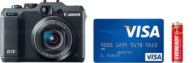 Canon G15 Real Life Body Size Comparison